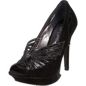 Sam Edelman Nixie Leather Platform Heels - 6.5M